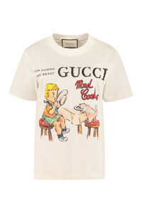 Gucci Mad Cookies print cotton T-shirt, T-shirts Gucci woman