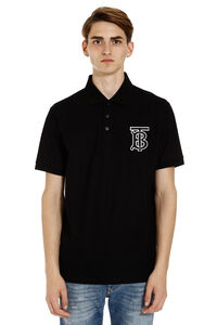 Short-sleeved cotton polo shirt, Short sleeve polo shirts Burberry man
