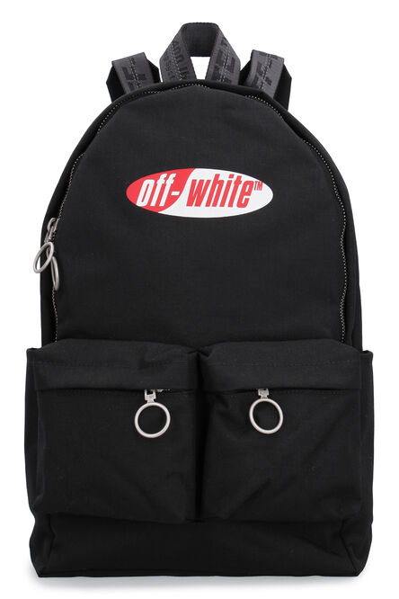 Canvas backpack with logo, Backpack Off-White man