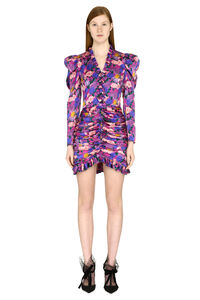 Ruffled silk mini dress, Printed dresses Giuseppe Di Morabito woman