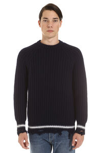 Ribbed wool sweater, Crew necks sweaters Golden Goose man