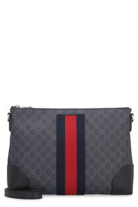 GG Supreme messenger-bag with web detail, Messenger bags Gucci man