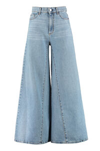 High-waist wide leg jeans, Wide Leg Jeans Amish woman