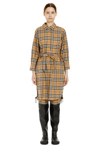 Vintage check cotton shirtdress, Knee Lenght Dresses Burberry woman