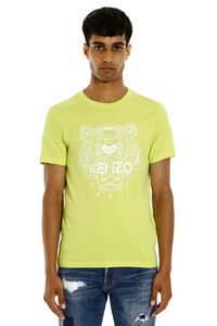 Tiger printed cotton short sleeves T-shirt, Short sleeve t-shirts Kenzo man