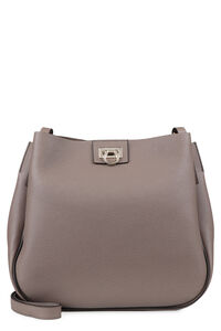Hobo pebbled leather messenger bag, Shoulderbag Salvatore Ferragamo woman