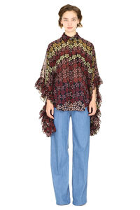 Printed blouse with ruffles, Blouses Dsquared2 woman