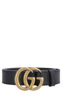 Leather belt with Double G buckle, Belts Gucci man