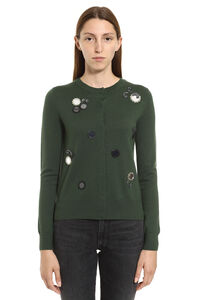 Merino wool cardigan, Cardigan Tory Burch woman