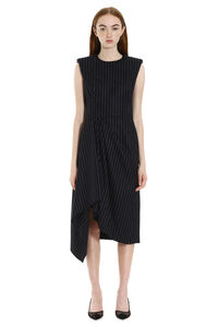 Draped asymmetric dress, Midi dresses Alexander McQueen woman