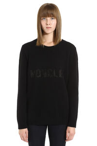 Wool and cashmere sweater, Crew neck sweaters Moncler woman
