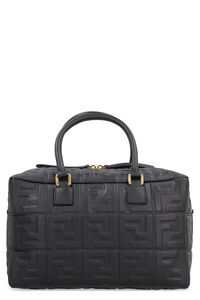 Boston leather handbag, Top handle Fendi woman
