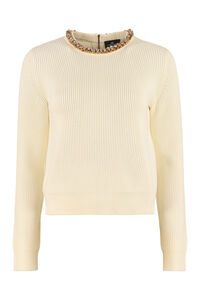 Embellished sweater, Crew neck sweaters Elisabetta Franchi woman