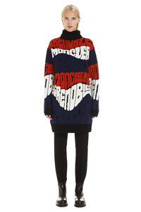 Intarsia wool and cashmere sweater, Turtleneck sweaters Moncler Grenoble woman