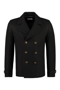 Double-breasted wool coat, Peacoats Saint Laurent man