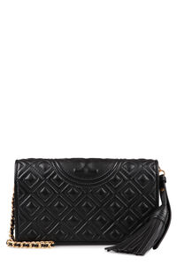Fleming quilted leather wallet on chain, Clutch Tory Burch woman