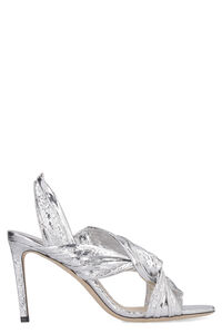 Metallic leather sandals, Mid Heels sandals Jimmy Choo woman