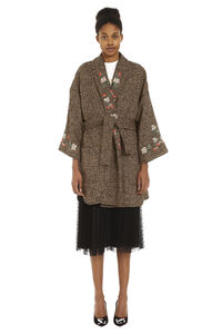 Mixed wool tweed coat, Knee Lenght Coats Red Valentino woman