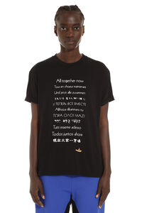 'All Together Now' T-shirt girocollo in cotone, T-shirt Stella McCartney woman