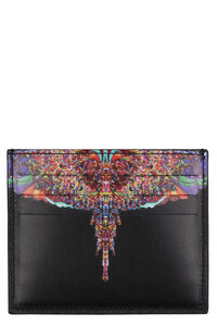 Printed leather card holder, Wallets Marcelo Burlon County of Milan man
