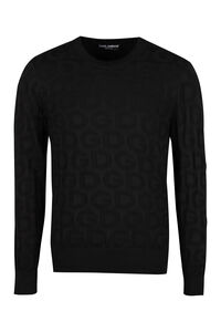 Jacquard crew-neck sweater, Crew necks sweaters Dolce & Gabbana man
