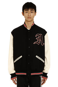 Bomber in lana con patch, Bomber Gucci man