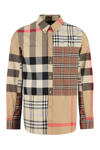 Checked poplin shirt, Checked Shirts Burberry man
