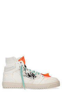 Off Court leather high-top sneakers, High Top Sneakers Off-White man