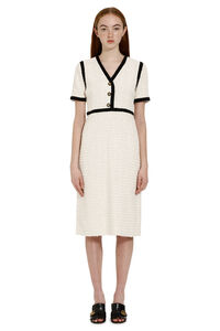 Contrast trim tweed dress, Knee Lenght Dresses Gucci woman