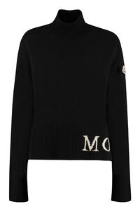 Turtleneck knitted pullover, Turtleneck sweaters Moncler woman
