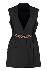 Chain detail wool double-breasted vest, Blazers Givenchy woman