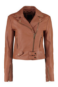 Sensibile leather biker jacket, Leather Jackets Pinko woman