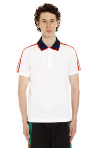 Short-sleeved stretch cotton polo shirt, Short sleeve polo shirts Gucci man