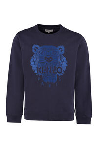 Embroidered cotton crew-neck sweatshirt, Sweatshirts Kenzo man
