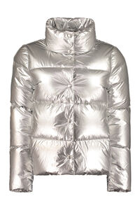 Metallic nylon down jacket, Down Jackets add woman
