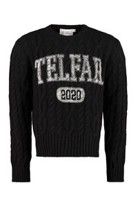 Cable knit pullover, Sustainability Telfar woman