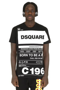 Printed cotton t-shirt, Short sleeve t-shirts Dsquared2 man