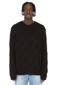 Logo intarsia cotton sweater, Crew necks sweaters Balenciaga man
