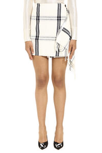 Noleggiare fringed wrap skirt, Wrap skirts Pinko woman