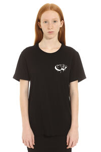 T-shirt in cotone con maniche corte e stampa, T-shirt Off-White woman