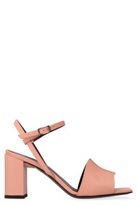 Heeled leather sandals, High Heels sandals Hazy woman