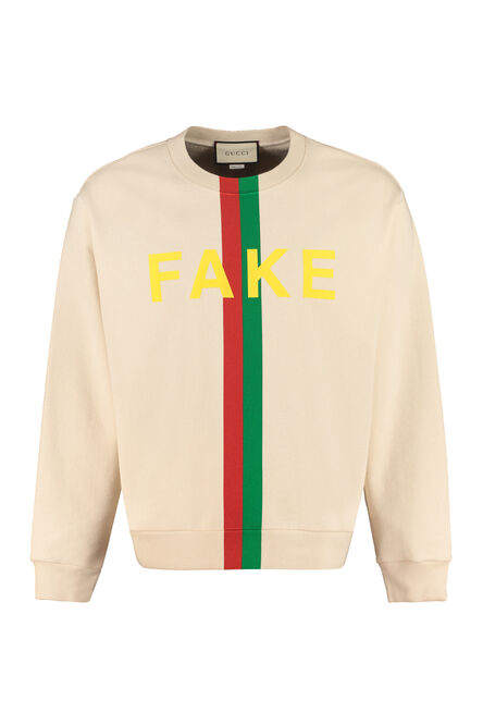 Printed cotton sweatshirt, Sweatshirts Gucci man