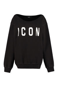 Logo detail cotton sweatshirt, Sweatshirts Dsquared2 woman