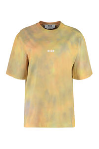 Tie-Dye cotton t-shirt, T-shirts MSGM woman