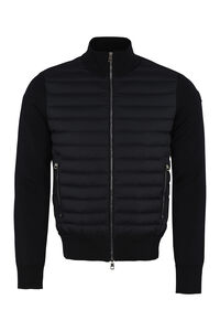 Cardigan with padded frontal panel, Down jackets Moncler man