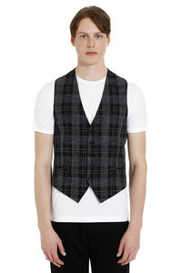 Cotton-linen blend vest, Blazers Tagliatore man