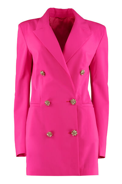 Embellished button blazer dress