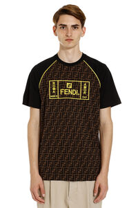 Crew-neck cotton T-shirt, Short sleeve t-shirts Fendi man
