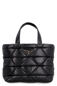 System leather tote, Tote bags Prada woman
