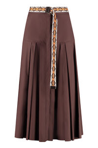 Erica pleated poplin skirt, Midi skirts Max Mara Studio woman